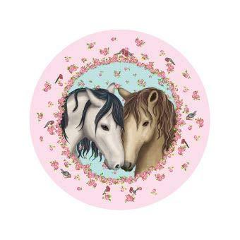 Lutz Mauder essbarer Tortenaufleger TapirElla Pferd Pony aus Zuckerpapier Rosa