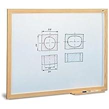 Pizarra blanca estratificada marco madera 90X120 cm