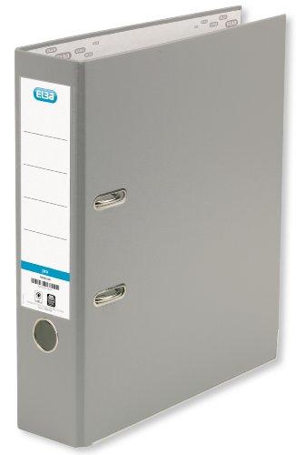 ELBA Ordner smart Pro 10er Pack 8 cm breit DIN A4 grau mit Einsteckrückenschild