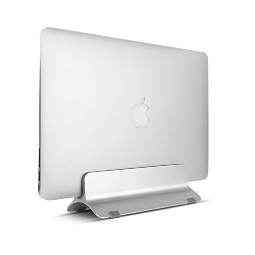 Stand per Macbook pro air da Scrivania Supporto di Alluminio ideale per Risparmio di Spazio 2 Pad in Silicone su Misura Antiscivolo Compatibile per Diverso Spessore