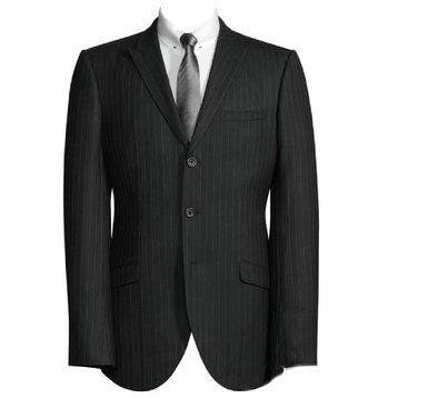 edel gestreift Schwarz Jacke/ festliche Blazer / eleganter Sakko (110) (Schwarze Jungen Blazer-jacke)