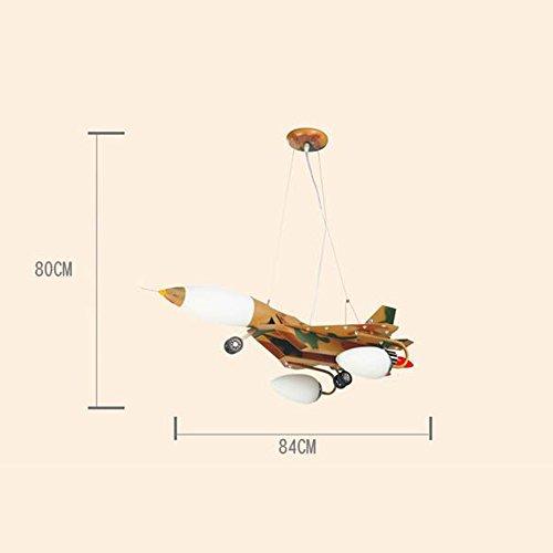 LED-Karikatur-kreative Pers5onlichkeit-Tarnungs-Flugzeug-Kinderzimmer-Eisen-Kronleuchter-Schlafzimmer-Jungen-Raum-Kronleuchter - 5