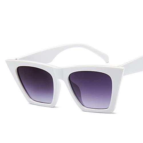 YKDDGG Mode-Accessoires Sonnenbrillen Style Vintage Sonnenbrillen Frauen der 90er Jahre Mode Sonnenbrille Female Lady Shades4-White