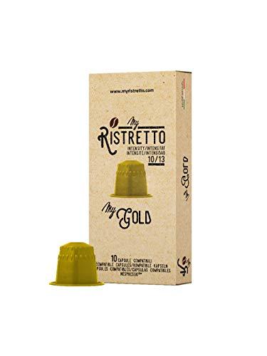 100 Cápsulas de Café compatibles Nespresso sabor Café MyGold - MyRistretto