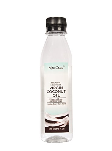 Maxcare Virgin Coconut Oil (Cold Pressed) 250ML  available at amazon for Rs.189