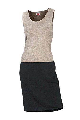 Strickkleid, stein-schwarz von Travel Couture by H**** Grösse 38