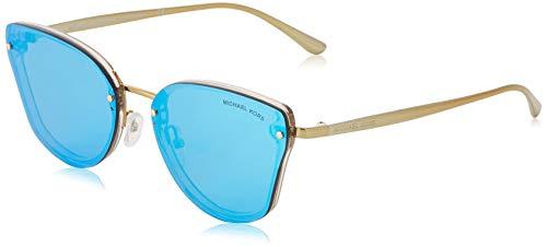 Michael Kors Damen 0MK2068 Sonnenbrille, Nude Transparent/Cobaltmirror, 58