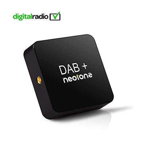 NEOTONE DRB-100X DAB+ Empfänger | Digital Audio Broadcasting | DAB+ Antenne für Autoradio | USB Anschluss | Deutsche Bedienungsanleitung | 3m Kabellänge | Universell |