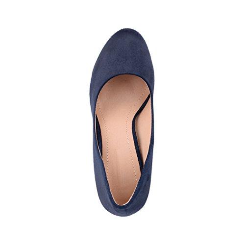 Elara Damen Pumps | Bequeme High Heels | Vintage-Style | Abendschuh Trendy | Chunkyrayan | E22360 Navy-39 - 6