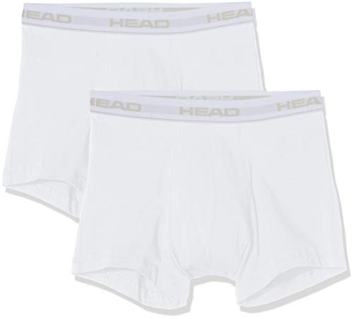 Head Basic Boxer 2p Bañador, Blanco White 300, Large Talla del Fabricante: 030...