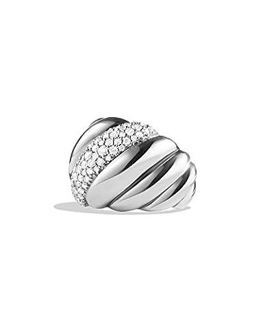 Unique en son Genre Hampton câble Diamant Argent sterling 925Mode Bague cocktail, tous les Taille J à Z disponibles