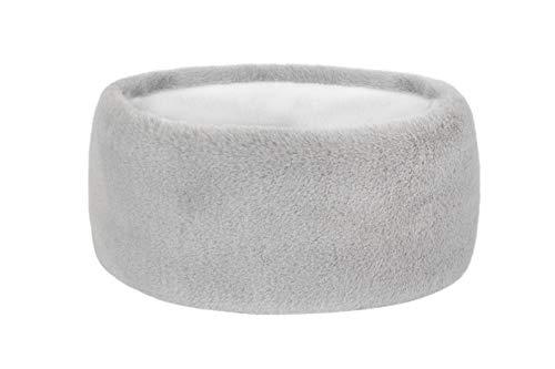 Futrzane Damen sehr weiches Fell Stirnband für den Winter (Grau)