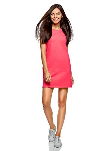 Oodji ultra donna abito in piqué, rosa, it 46 / eu 42 / l