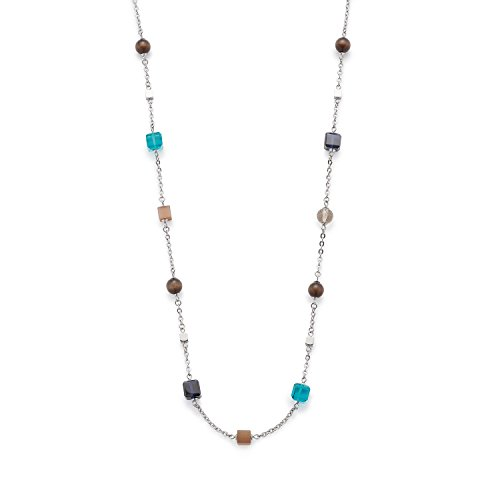 Leonardo Jewels Damen Halskette Siena Edelstahl Glas braun 100 cm 016383