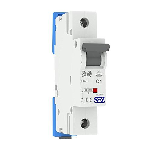 LS-Schalter SEZ C 1A 1-p 10kA VDE Leitungsschutzschalter Sicherungsautomat -