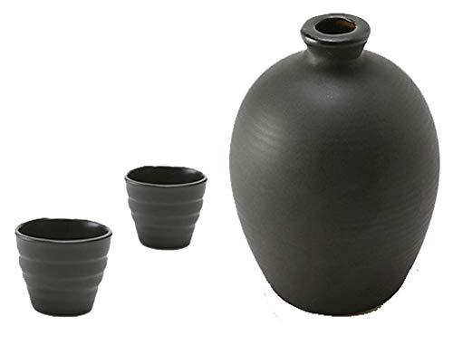 Black Temptation Bouteille de vin en céramique de Style Ancien mis en Verre Set de vin de saké-Y4
