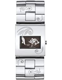 Swatch Damen Armbanduhr Square Dark Attitude YUS103G