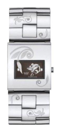 Swatch SQUARE - Reloj analógico de mujer de cuarzo con correa de acero inoxidable plateada