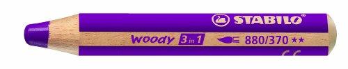 Preisvergleich Produktbild STABILO woody 3 in 1 Einzelstift lila - Multitalent-Stift