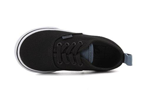 Vans Authentic Kinder Schwarz Leinwand / Leinen Elastic Lace Slip-On Sneakers Black/dark Slate