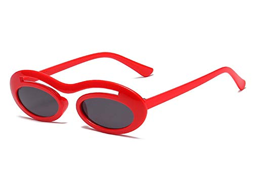 Daawqee Sunglasses Retro Oval Ladies Sun Glasses Women Sunglass Vintage Eyeglasses Fashion UV400 Leopard Eyeglasses Red
