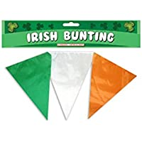 St Patrick's Day 25 Pennant Irish 7M Green, White & Orange Bunting Decoration