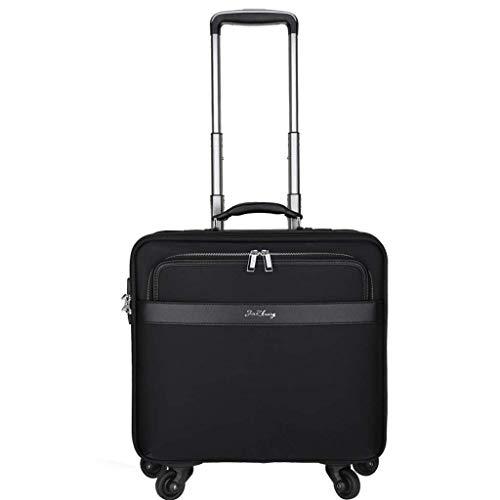 QWW Gepäck Executive Laptop Roller Case 4 Rad Schwarz Samsonite Laptop Roller