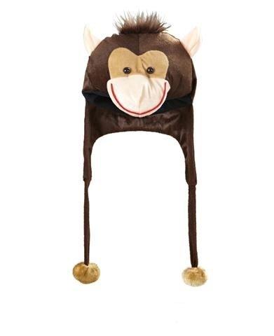 Affe Mütze Plüsch braun Einheitsgröße