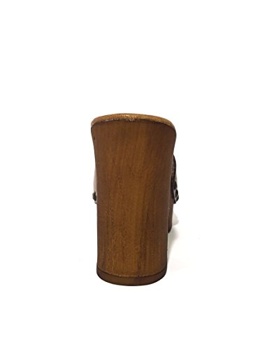 Zoccoli in pelle BOT 4616-9022 tacco medio MainApps Tortora