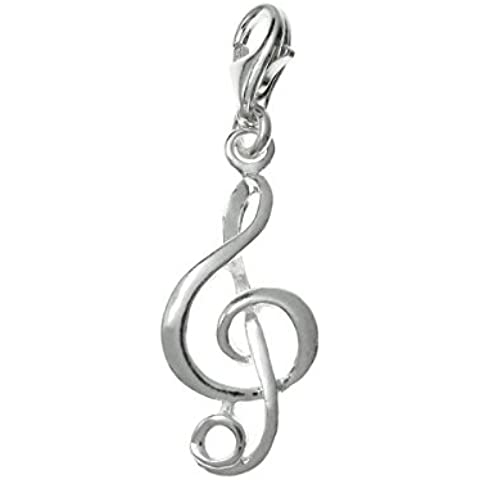 Plata de Ley 925Dreambell G Agudos Clef Música Nota Melody Dangle European langosta Clip en encanto
