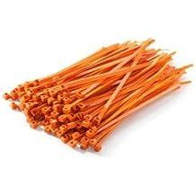 Cables UK 4,8 mm x 370 mm , 100 unidades de bridas de nailon KTM naranja