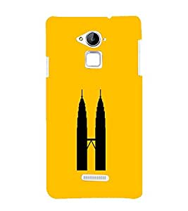 PrintVisa Designer Back Case Cover for Coolpad Note 3 (Malaysia Twin Towers :: Yellow Color Backgroung wallpaper :: Nice Design :: Beautiful Color Design)
