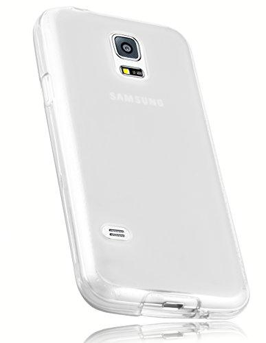 mumbi Schutzhülle Samsung Galaxy S5 Mini Hülle transparent weiss (Handy Case Samsung S 5)