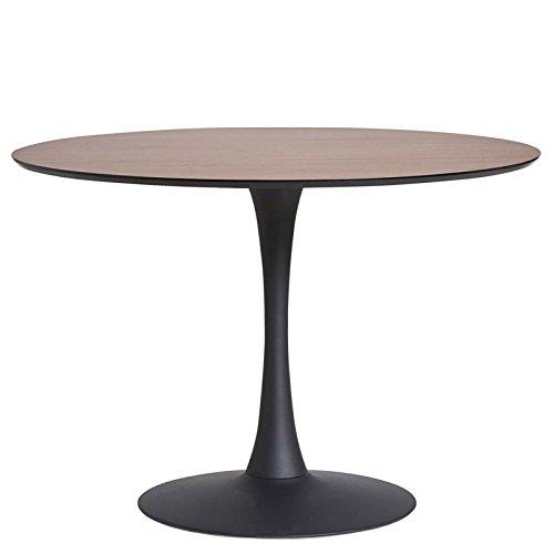 tousmesmeubles table de repas ronde noyernoir - Table Ronde Pied Tulipe