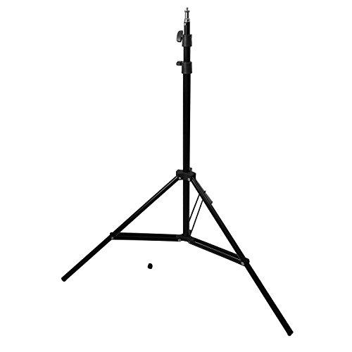 Wecellent Lampenstativ 75 bis 200cm GSA-200 Blitz Lampe Light Stand mit 1/4 '' Gewinde