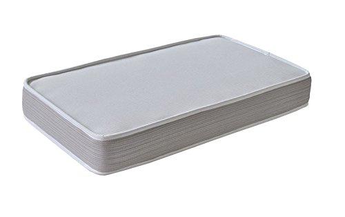 Colchón de cuna FIBRA DE COCO natural ecológica + MUELLES 120x60cm antiácaros transpirable