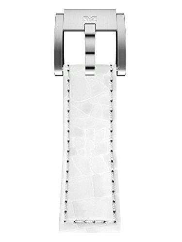 TW Steel Marc Coblen Armband Uhrenband Leder 22 MM Kroko weiss LB_W_K_S