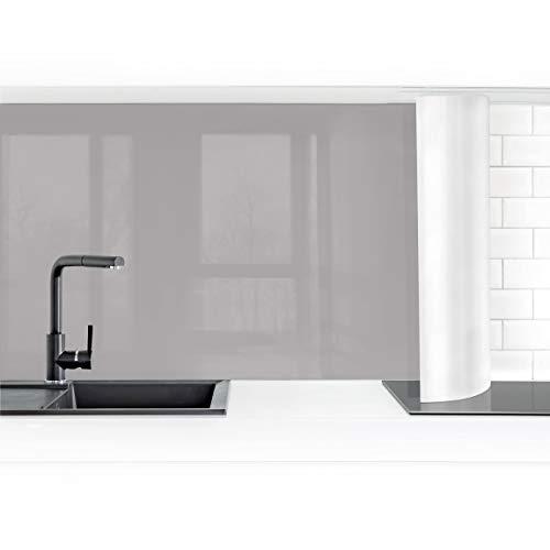 Bilderwelten Küchenrückwand Folie selbstklebend wasserfest Achatgrau 50 x 150 cm Smart