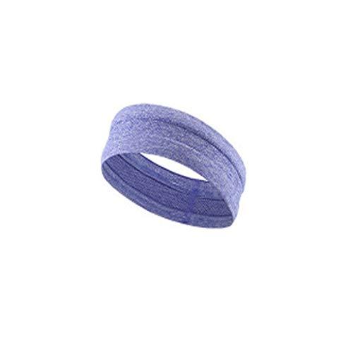 QHJ Unisex Sport Schweißband Stirnband Yoga Stretchy Fashion Haarband NEU violett (Für Nike Spandex Mädchen)