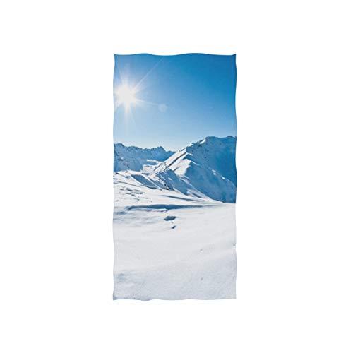 Enhusk Schöne Winter Schnee Berg Soft Spa Strand Badetuch Fingerspitze Handtuch Waschlappen Für Baby Erwachsene Badezimmer Strand Dusche Wrap Hotel Reise Gym Sport 30x15 Zoll