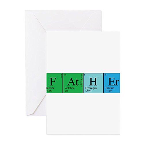 CafePress-Periodic Vater-Grußkarte, Note Karte, Geburtstagskarte, innen blanko, matt -