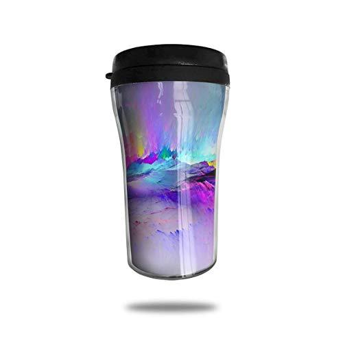 Wärmeisolierung Wasserflaschen Bunte Rissdruck Reise Tumbler Mug Cup W/Deckel isoliert heiß oder kalt
