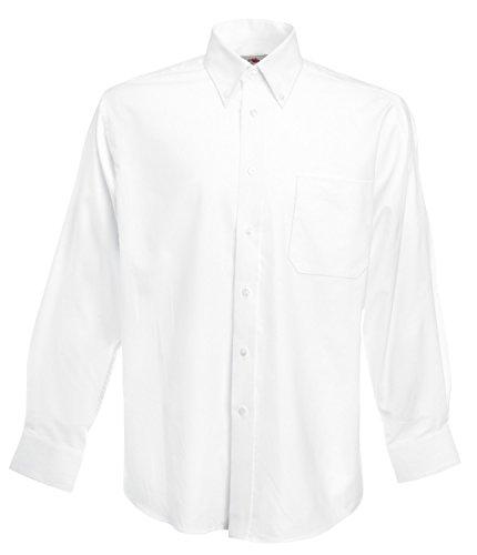 F600 Men´s Long Sleeve Oxford Shirt, Farbe:White;Größen:3XL 3XL,White -