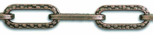 Chapuis LVBL10 Chaîne lustrerie martelé bronze 8 kg D 2 mm L 1,5 m