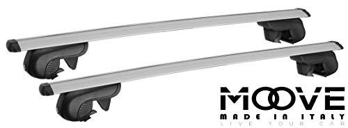 MOOVE Dachgepäckträger Auto Wing Pro Aluminium Grau -135 cm Universal für Deckenmontage 90 kg -