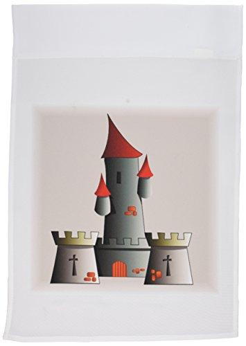 3dRose FL_41729_1 Gartenflagge Burg, 30,5 x 45,7 cm, Grau/Rot