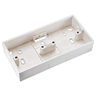 sourcing map Wall Switch Box Electrical Outlet Surface Mount Cassette 2 Gang
