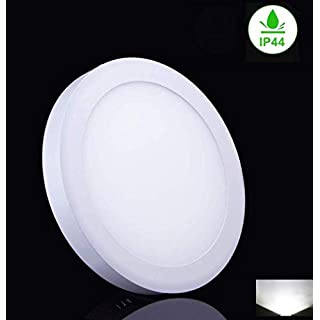 18W Round Surface Mounted LED Ceiling Lights IP44, Led Panel DownLights Ceiling Fitting for Bedroom Bathroom, Living Room, Kitchen,6000K