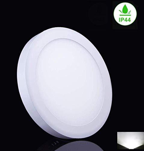 W-LITE LED Deckenleuchte Rund, 18W Panel Deckenlampe, Kaltweiß Downlight für Wohnzimmer, Schlafzimmer, Kinderzimmer, Küche, Flur (Nicht Dimmbar)