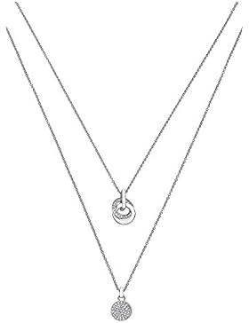 JETTE Silver Damen-Collier MAGIC LIGHTS 925er Silber 55 Kristall One Size, silber